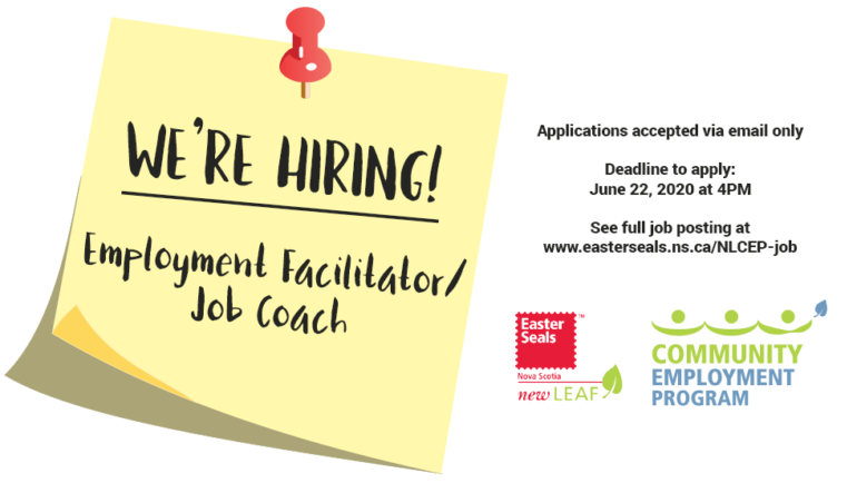 We're Hiring: Employment Facilitator/Job Coach